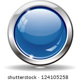 blank blue web buttons for... | Shutterstock .eps vector #124105258
