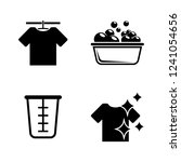 laundry  washing  wash. simple... | Shutterstock .eps vector #1241054656