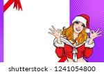 santa woman showing okay... | Shutterstock .eps vector #1241054800
