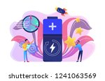 engineers with battery charging ... | Shutterstock .eps vector #1241063569