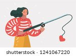 cute young happy woman girl... | Shutterstock .eps vector #1241067220