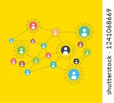 social networking flat... | Shutterstock .eps vector #1241068669