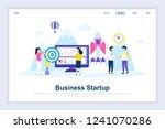 business startup modern flat...