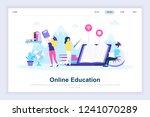 online education modern flat...