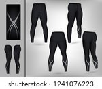 visual drawing of model pants... | Shutterstock .eps vector #1241076223
