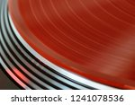 vinyl record rotate. a ray of... | Shutterstock . vector #1241078536