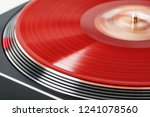 vinyl record rotate. a ray of... | Shutterstock . vector #1241078560