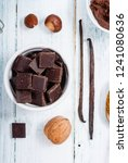 muffin baking ingredients on... | Shutterstock . vector #1241080636