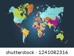 color world map vector | Shutterstock .eps vector #1241082316