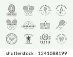 set of vintage tennis logos ... | Shutterstock .eps vector #1241088199