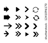 set of black arrows icon | Shutterstock .eps vector #1241096170