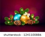 illustration for merry... | Shutterstock . vector #1241100886