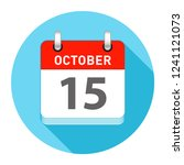 october 15 date on a single day ...