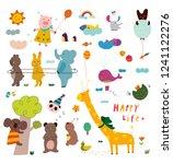 illustration postcard of... | Shutterstock .eps vector #1241122276