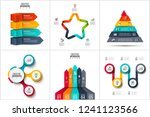 infographic set with circles ... | Shutterstock .eps vector #1241123566