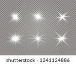 star explodes on transparent... | Shutterstock .eps vector #1241124886