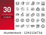 casino and gamble line icon set ... | Shutterstock .eps vector #1241126716