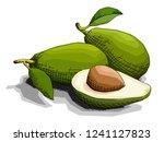 vector illustration sketch of... | Shutterstock .eps vector #1241127823