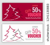 gift voucher template. vector... | Shutterstock .eps vector #1241130883