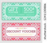 gift voucher template. vector... | Shutterstock .eps vector #1241130886