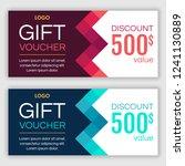 gift voucher template. vector... | Shutterstock .eps vector #1241130889