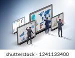 concept of business charts and... | Shutterstock . vector #1241133400