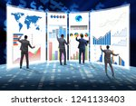 concept of business charts and... | Shutterstock . vector #1241133403