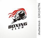 boxing club vector logo... | Shutterstock .eps vector #1241142796