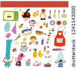 cooking related products | Shutterstock .eps vector #1241143000