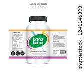 bottle label  package template... | Shutterstock .eps vector #1241146393