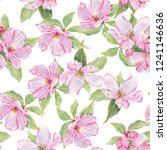 seamless pattern with pink...   Shutterstock . vector #1241146636
