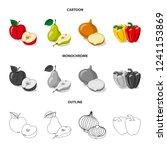isolated object of vegetable...   Shutterstock .eps vector #1241153869