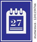 calendar icon in trendy flat... | Shutterstock .eps vector #1241154766