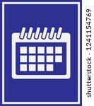 calendar icon in trendy flat... | Shutterstock .eps vector #1241154769