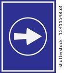 arrow icon in trendy flat style ... | Shutterstock .eps vector #1241154853