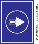 arrow icon in trendy flat style ... | Shutterstock .eps vector #1241154859
