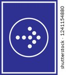 arrow icon in trendy flat style ... | Shutterstock .eps vector #1241154880