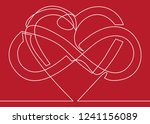 intertwined heart with the sign ...   Shutterstock .eps vector #1241156089