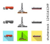 vector design of oil and gas... | Shutterstock .eps vector #1241161249