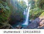 famous aling aling waterfall... | Shutterstock . vector #1241163013
