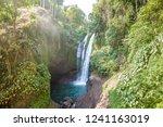 famous aling aling waterfall... | Shutterstock . vector #1241163019