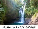 famous aling aling waterfall... | Shutterstock . vector #1241163040