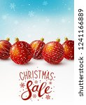christmas greeting card with... | Shutterstock .eps vector #1241166889