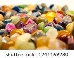 natural polished gemstone semi... | Shutterstock . vector #1241169280