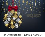 merry christmas decorative... | Shutterstock .eps vector #1241171980