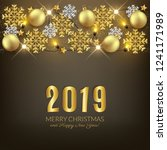 merry christmas happy new year... | Shutterstock .eps vector #1241171989
