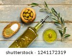 olives and olive oil | Shutterstock . vector #1241172319