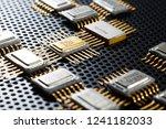 golden electronic components...   Shutterstock . vector #1241182033