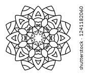 flower mandala illustration....   Shutterstock . vector #1241182060