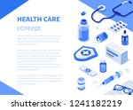 health care concept with text... | Shutterstock .eps vector #1241182219